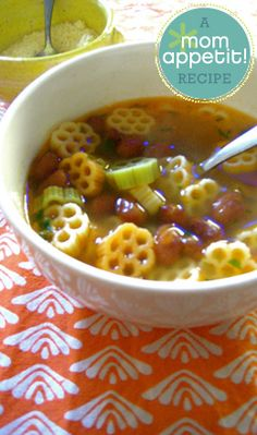 #Recipe: Pasta and Bean Soup.