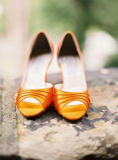 idea, inspiration, wedding shoes, orange weddings, tangerin tango