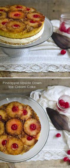 Pineapple Upside Down Ice Cream Cake Recipe at LivingLocurto.com