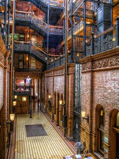 Bradbury Building, Los Angeles, California....I MUST see this building someday....gorgeous!