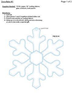 FREE Printable Paper Snowflake Templates