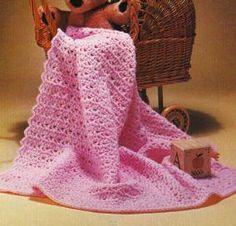 Free Crochet Patterns Pink baby blanket
