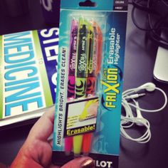 """A med student's dream...erasable highlighters in COLORS @Kylee Wieging #medstudentproblems #geekingoutbigtime  (We love seeing our books """"in the wild!"""")"""