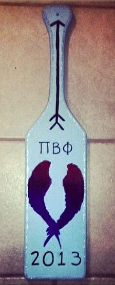 Pi Beta Phi angel wing paddle craft #piphi #pibetaphi