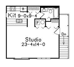 Studio Apartment Floor Plans | Parker Studio Apartment Garage Plan ...