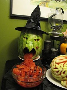 fruit salad vomiting melon witch. I think the one next to it is a brain