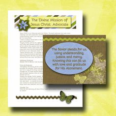 July 2014 Visiting Teaching Lesson and Handout  by GreenJelloSalad, $2.00