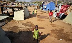 A makeshift UN shelter in Juba, home to thousands of people displaced by recent fighting. Photograph: Ben Curtis/AP