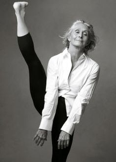 "twyla tharp. she said: ""if you've done enough falls, you know exactly what to do when you hit the ground."" she goes to the gym for two hours every day. she's 70."