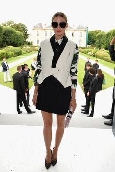 Olivia Palermo is all shades and high-heels at the Dior Haute Couture show
