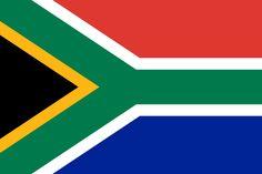 Bandera de la República de Sudáfrica.