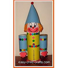 circus projects, recycl craft, clown craft, knutselen carnaval, clowns craft, cardboard tube, blog, knutselen circus, recycled crafts