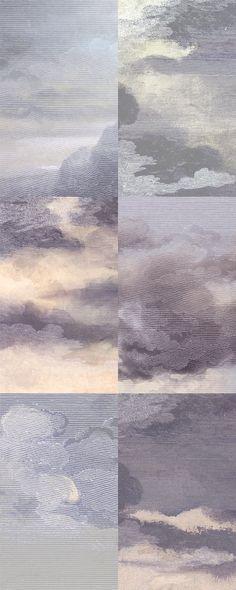"""""""Dutch Sky"""" Wallpaper. Dusk-Violet."""
