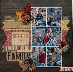 Thankful for my Family | Scraptastic Club by DT @Melanie Bauer Stanczyk