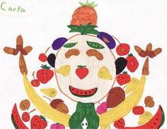 Food portraits -- Giuseppe Arcimboldo