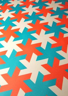 Grafika wrapping paper from Nineteen Seventy Three. Birthdays + pop colour + awesome design = win.