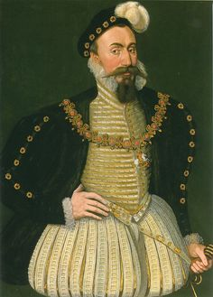 Robert Dudley Earl of Leicester by an Unknown Artist, c.1575-80. (National Portrait Gallery, London)