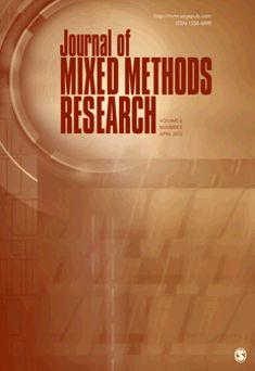 Journal of Mixed Methods Research.  This is an entire journal devoted to mixed methods!  It is fairly new, beginning publication in 2007.  Interesting! (568)