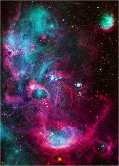Stellar nursery in the Cygnus X star forming region.