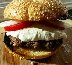 Grilled Greek Lamb Burgers with Tzatziki