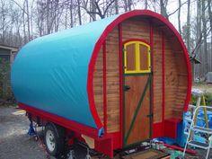 Utility trailer turned travel trailer