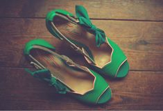 Green shoes.