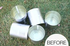Hometalk :: Painted Tin Can Planters