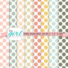 Printable Scrapbook Papers from thegirlcreative.com #printables #polkadots