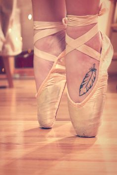 Ballet  #feather #dance #points #inspirational #tattoo