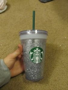 Glitter Starbucks cup; this is the ONLY one that has instructions