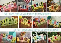Mini Seasonal Blocks