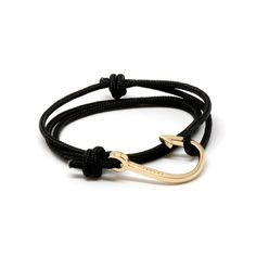 Miansai – Gold Hook on Solid Black