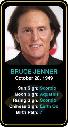 Celeb #Scorpio birthdays: Bruce Jenner's astrology info! Sign up here to see more: https://www.astroconnects.com/galleries/celeb-birthday-gallery/scorpio?start=30  #astrology #horoscope #zodiac #birthchart #natalchart #brucejenner #keepingupwiththekardashians