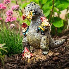 Godzilla garden gnome #gnomes