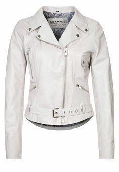Jofama - RETRO - Leather jacket - white