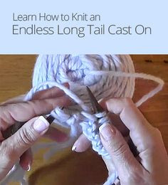 Knitting Stitches Long Tail Cast On : Knitting Tips on Pinterest 137 Pins