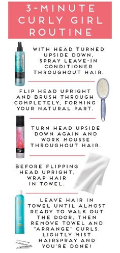 three-minute curly hair routine--for lessthan $10!