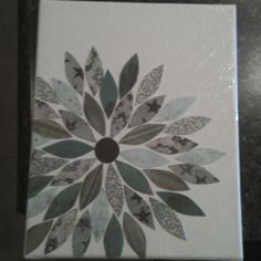Scrapbook paper and canvas
