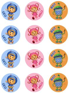 Umizoomi Birthday Cake Toppers