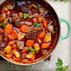 Irish stew made with stout beer