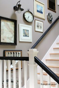eclectic gallery stair wall