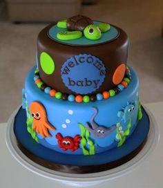 Seascape Baby Cake