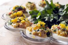 Recipe: Shrimp deviled eggs || Photo: Evan Sung for The New York Times