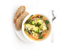 Ravioli and Vegetable Soup from #FNMag #myplate #grains #veggies