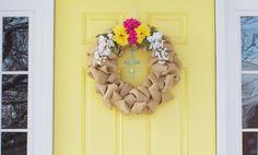 Interchangeable Burlap Wreath