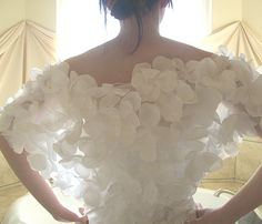 Bridal Floral Shawl, flower shrug is perfect for spring or summer wedding.. $165.00, via Etsy.