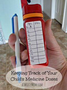 keeping track of your child's medicine doses, #medicine, #sick, #antibiotic, #child, #parenting, #medicinesafety
