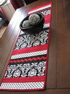 kitchen table runner kitchens, galleries, black runner, decks, kitchen tables, deck collect, black white, red and black kitchen, red black