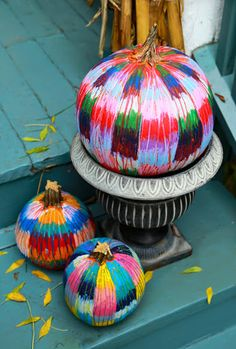 Patchwork Pumpkins with Oil Pastels