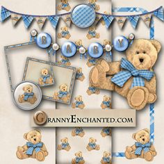 Free Baby Digi Scrapbook Kit -my fans wanted baby boy stuff.  Voila